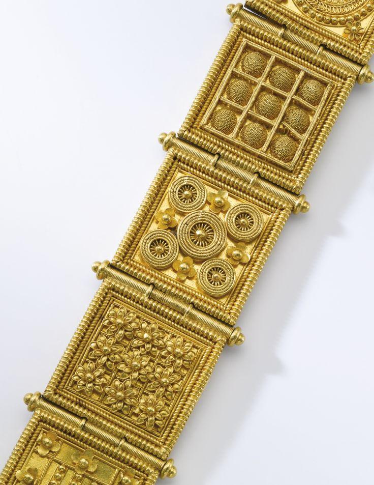 Gold bracelet, Giacinto Melillo, 1870s | Lot | Sotheby's