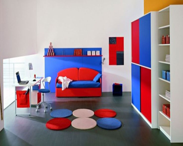 Blue And Red Bedroom Designs