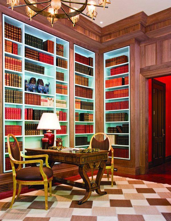bookcase interior color