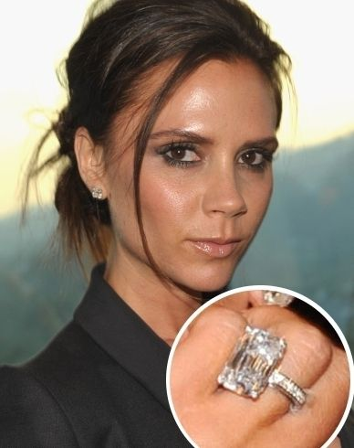 Victoria Beckham's engagement ring. Stylish diamond for a stylish woman! If you can think it, Diamond Cutters International can make it!