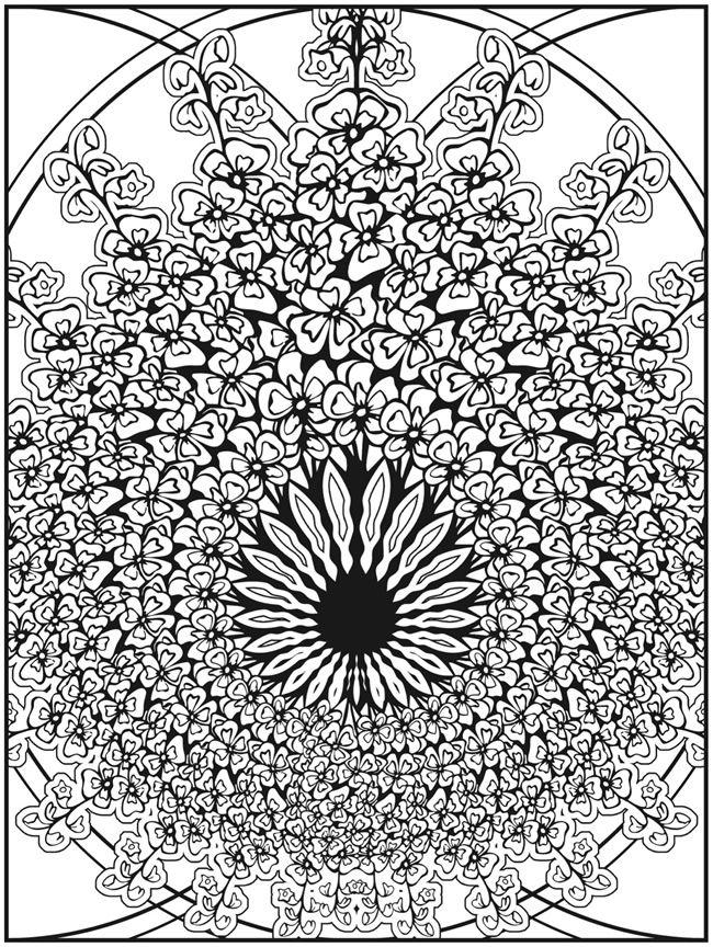 Fractal Coloring Pages  vardantnet