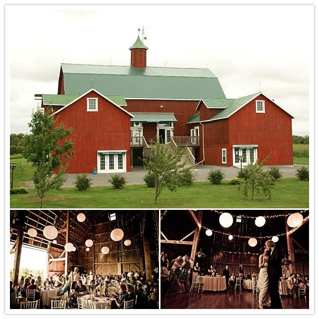 Click through to see beautiful barns for wedding venues in Ontario, Canada.
