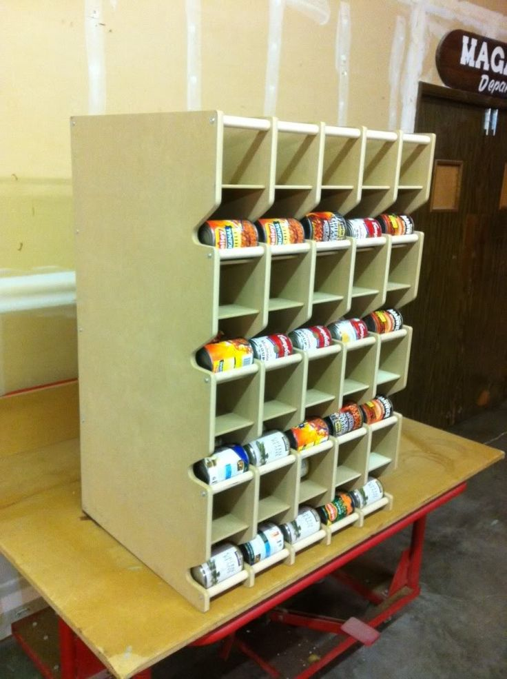 My next big project to tackle. A can rotation shelf. This is a great example.