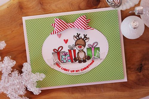Simon Says Stamp December Card Kit | Light Up Rudolf Card