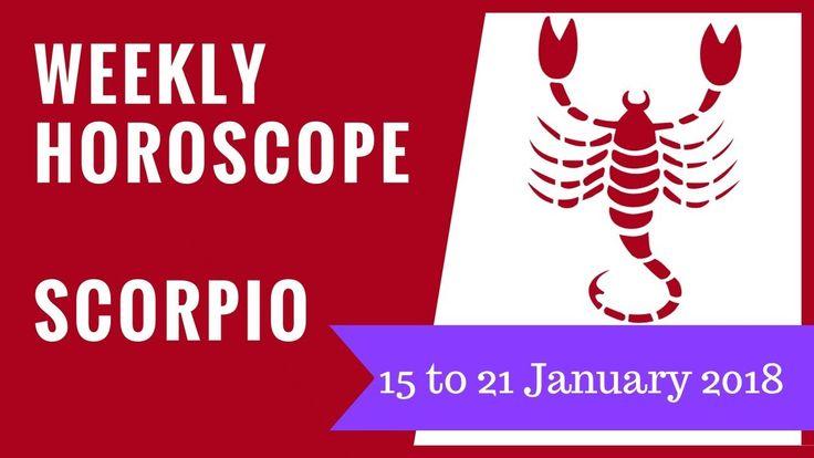 Scorpio Weekly Forecast - 15 to 21 January 2018 #astrology #horoscope #forecast #Scorpio
