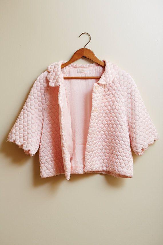 1950s Satin Baby Pink Barbizon Pretti Puff Bed by SoftServeVintage