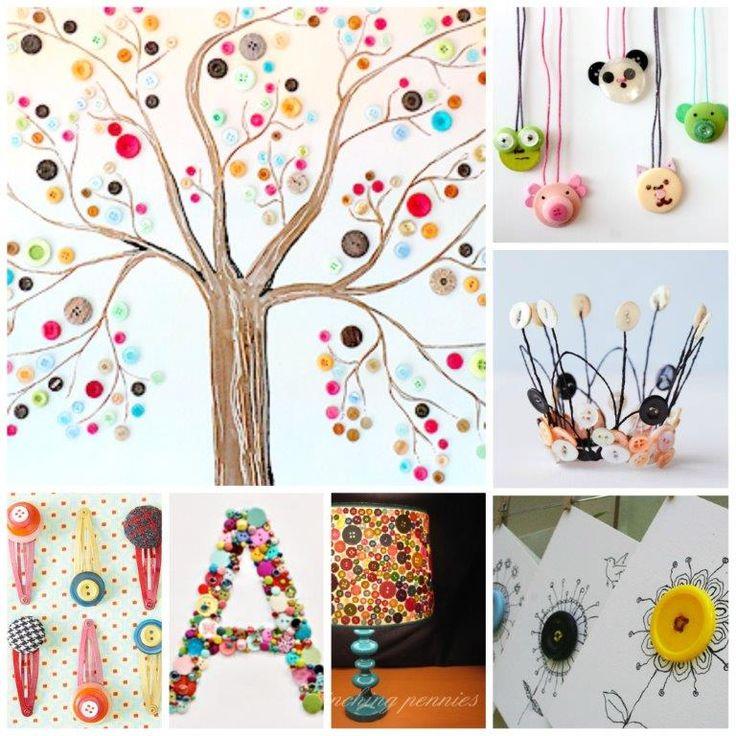 40 GORGEOUS & Wonderful Button Crafts