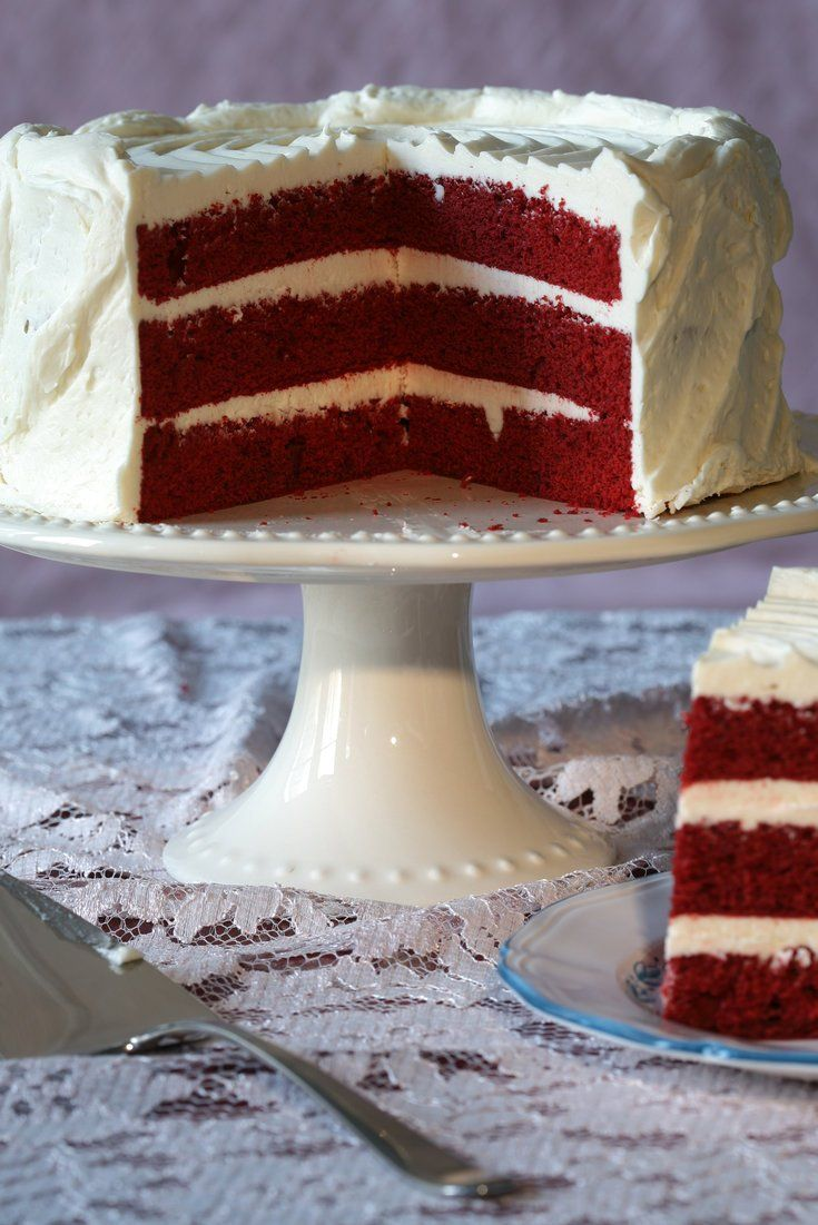 """NYT Cooking: This is a cake to stop traffic. The layers are an improbable red that can vary from a fluorescent pink to a dark ruddy mahogany. The color, often enhanced by buckets of food coloring, becomes even more eye-catching set against clouds of snowy <a href=""""http://www.nytimes.com/recipes/11433/red-velvet-cake-icing.html"""">icing</a>, like a slash of glossy lipstick framed by platinum blond cu..."""