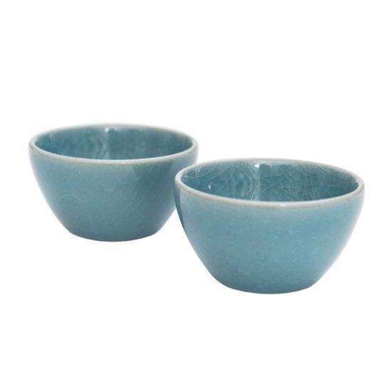 MONOQI   2er-Set Teeschalen - Blau