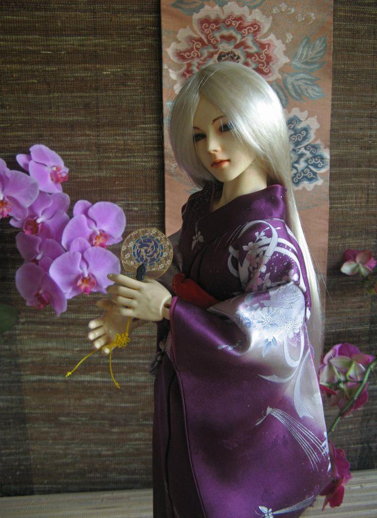 BJD kimono, My Lovelly Hand Fan by InarisansCrafts