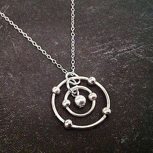 Silver Carbon Atom Necklace | 23 Majestically Beautiful Pieces Of Science Jewelry