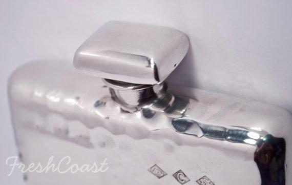 Retro Pewter Flask 5oz  Silver Shine by FreshCoastCompany on Etsy, $80.00