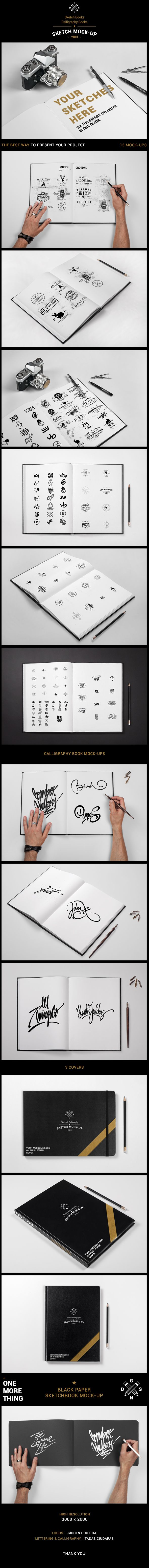 #Sketch Books / #Calligraphy Books Mock-up by Synthetique , via #Behance http://graphicriver.net/item/sketch-book-calligraphy-book-mockup/5002810?ref=Synthetique