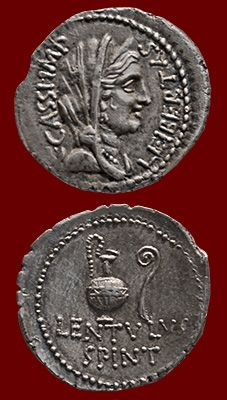 coin of Gaius Cassius Longinus