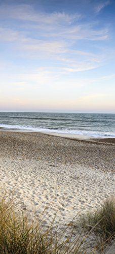 posterdepot Affiche de porte Motif plage Promenade en vacances à la mer Baltique 93x 205cm, 1pièce, ktt0617: 1parure de porte papier…