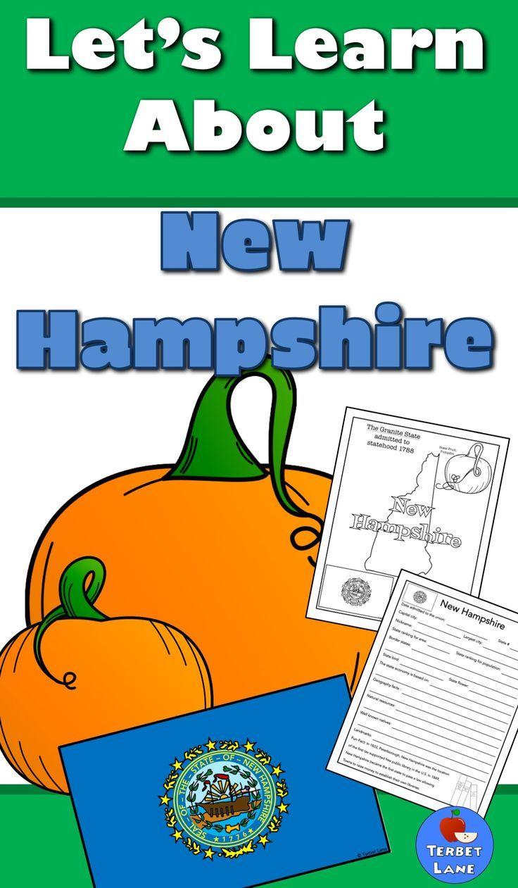 New Hampshire History And Symbols Unit Study Pinterest Geography