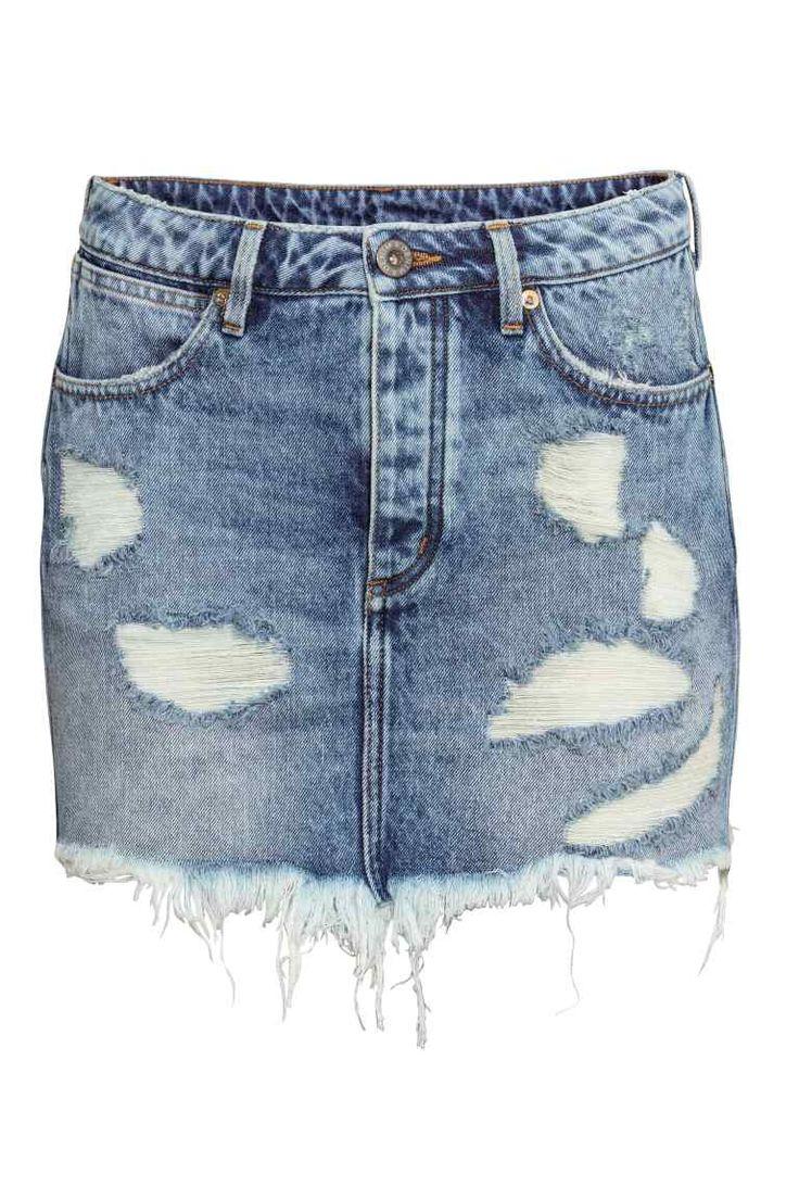 Falda corta desgastada | H&M
