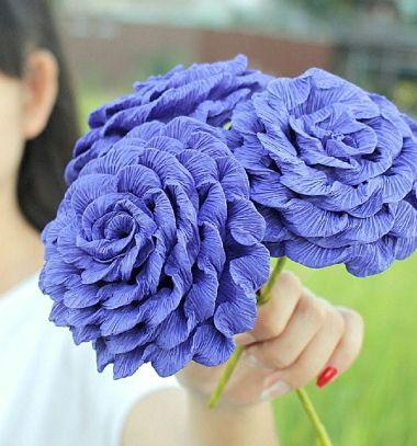 DIY Gorgeous and easy crepe paper rose - spring craft // Gyönyörű rózsák krepp papírból egyszerűen házilag  // Mindy - craft tutorial collection