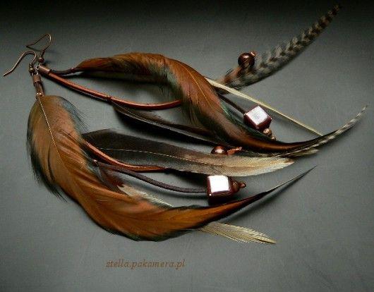 kolczyki - pióra-squaw
