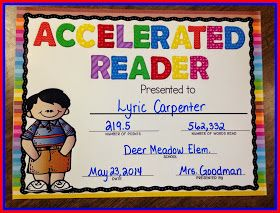 PAWSitively Teaching: Accelerated Reader Award Freebie