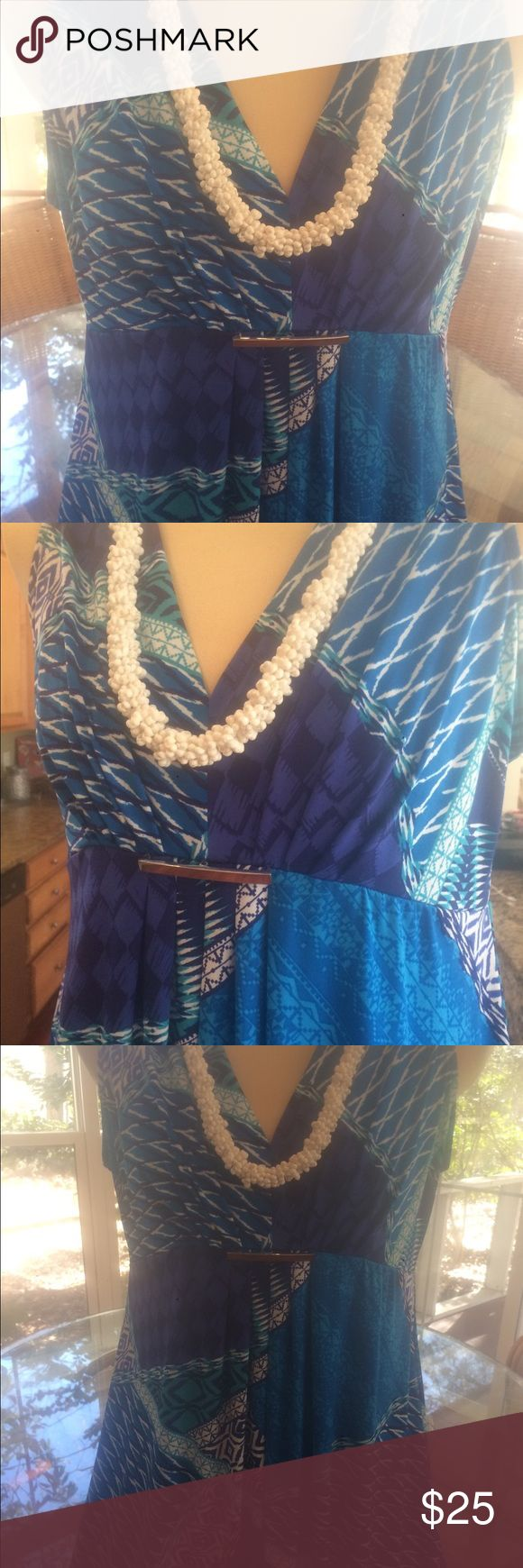 """""""CHICO'S Tropical Long Floor- Length Dress This Tropical Dress by  """"CHICO's"""" is perfect for a cruise and easy for traveling! Size 2 (which fits size 10-12 perfectly) is so comfortable and can be worn as Casual attire or for a Dressy occasion can just add some jewelry!!  Retails for $89 Chico's Dresses Maxi"""