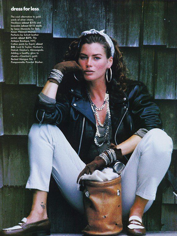 British Vogue 1989 feat Carre Otis