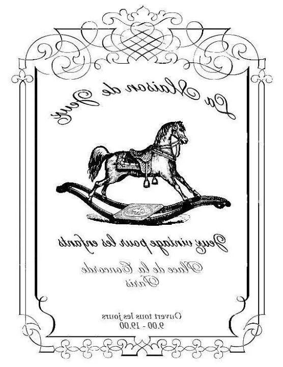 French Typography - Reversed for Printing