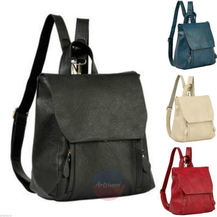 Artsivaris Genuine Leather Women Backpack Vintage School Travel Bag Rucksack | eBay