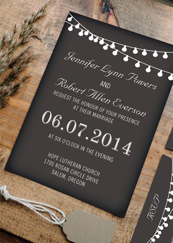 Best Chalkboard Wedding Invitations Images On