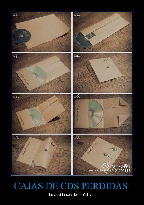 caja de papel para CD