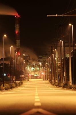 soku_13644.jpg :: 夜景 工場 道路 深夜