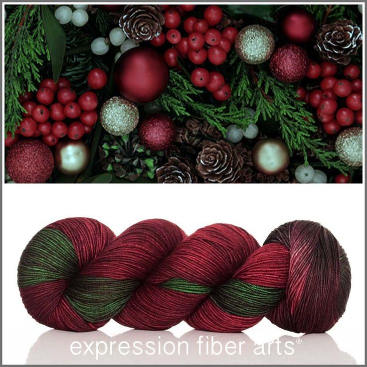 holly and ivy resilient superwash merino sock yarn color