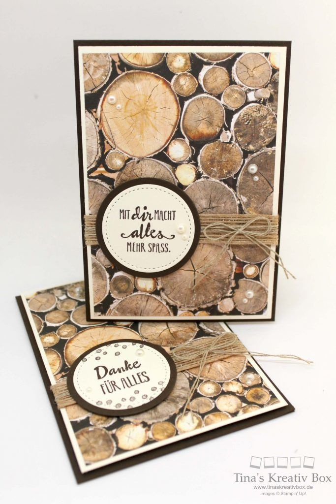 Greeting card wood decor – with products from Stampin & …