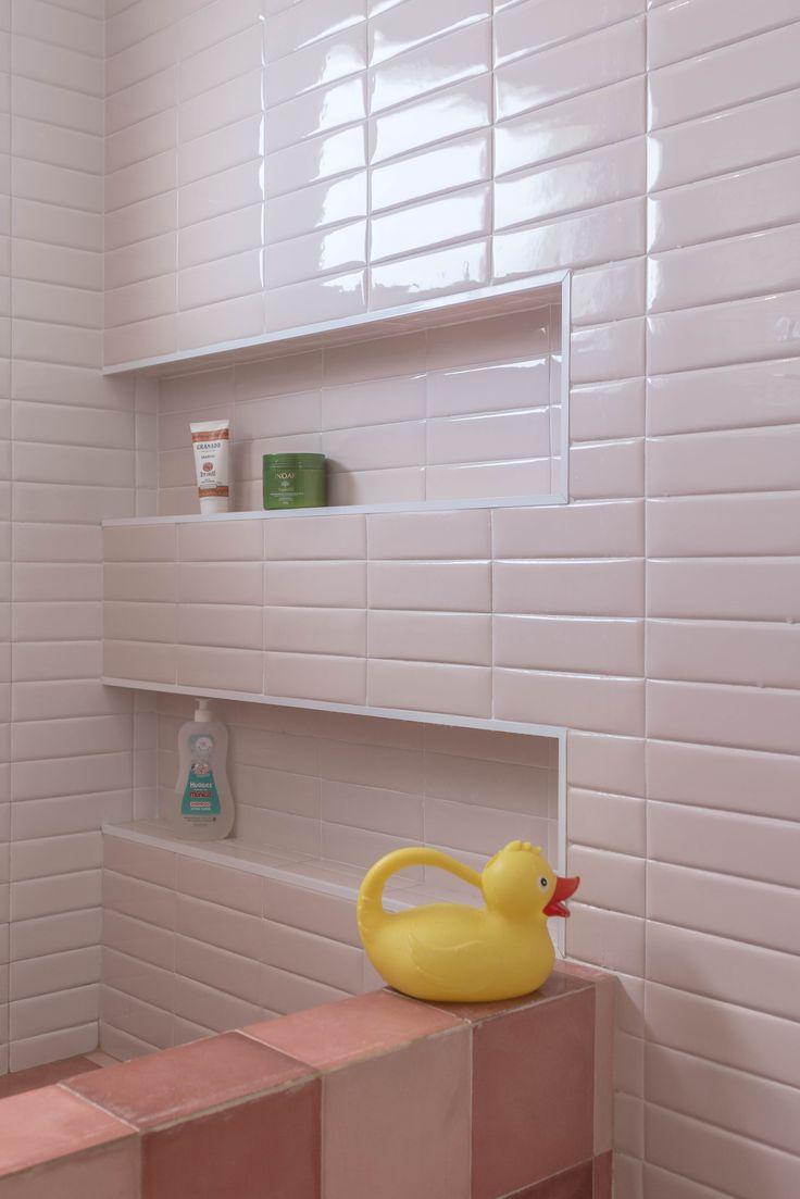 17 melhores ideias sobre Piso Xadrez no Pinterest  Piso quadriculado, Mobíli -> Nicho Banheiro Cerâmica