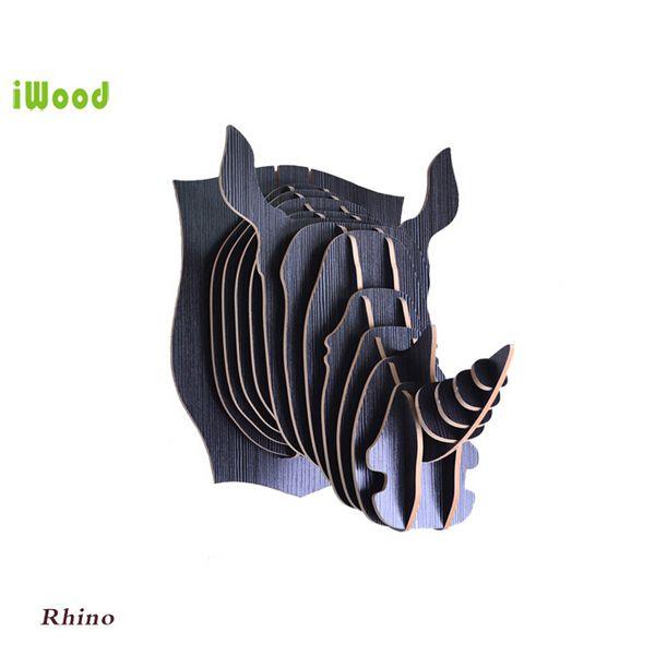 1 Unidades 9 Dones Creativos De Madera Animales Cabeza Colgante De Pared De Madera Cabeza de Rinoceronte Para Inicio Decoración de La Pared IW WD004 en Estatuas y Esculturas de Hogar y Jardín en AliExpress.com | Alibaba Group