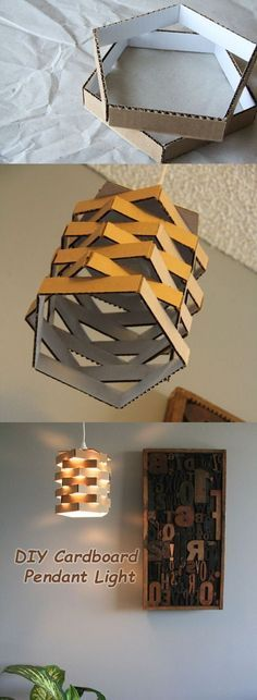 Diy cardboard pendant light do it yourself pinterest lmparas diy cardboard pendant light aloadofball Image collections