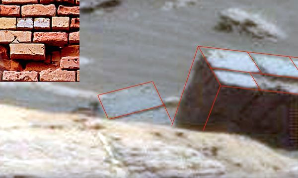 Brick Wall spotted on #Mars by #UFO hunter #UFOSighting Images  NASA Rover image shows a type of brick wall on Mars due to which it comes out as a brilliant thing discovered till now. And if you zoom it, you can find a different structure with some precision's, which exactly resembles a wall on Earth.