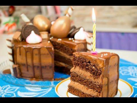 Мега Шоколадный Торт Моя Прага на мой День Рождения!  - Я - ТОРТодел! - YouTube