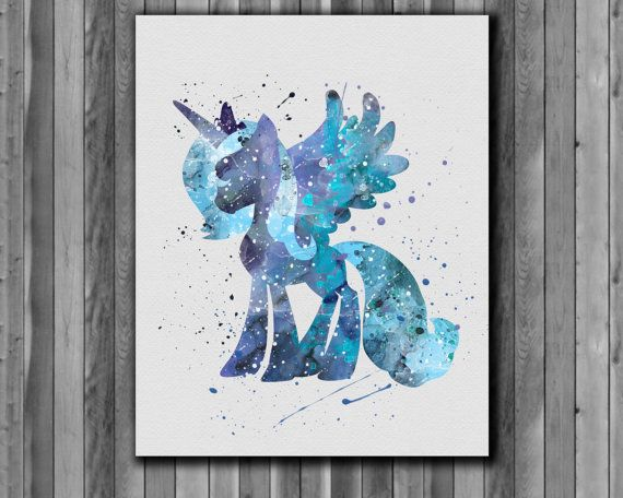 Pony princess luna My Little Pony poster  Art by digitalaquamarine