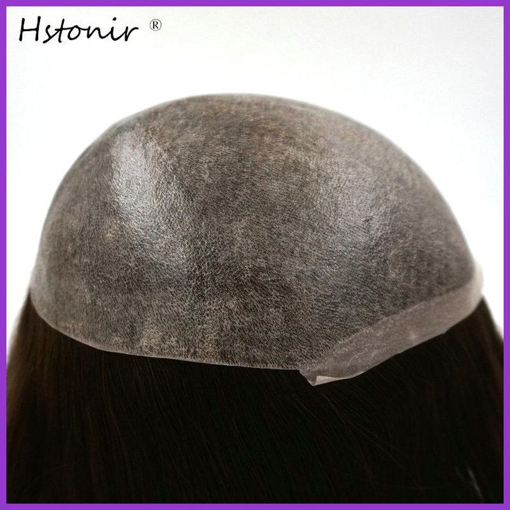 Hstonir Injection European Men Wig Hair Pieces For Short Hair Parrucche Capelli Umani Da Uomi Postiche Homme H076