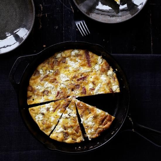 Fresh Potato Salami and Cheese Frittata Fortified with saut ed potatoes strips of salami