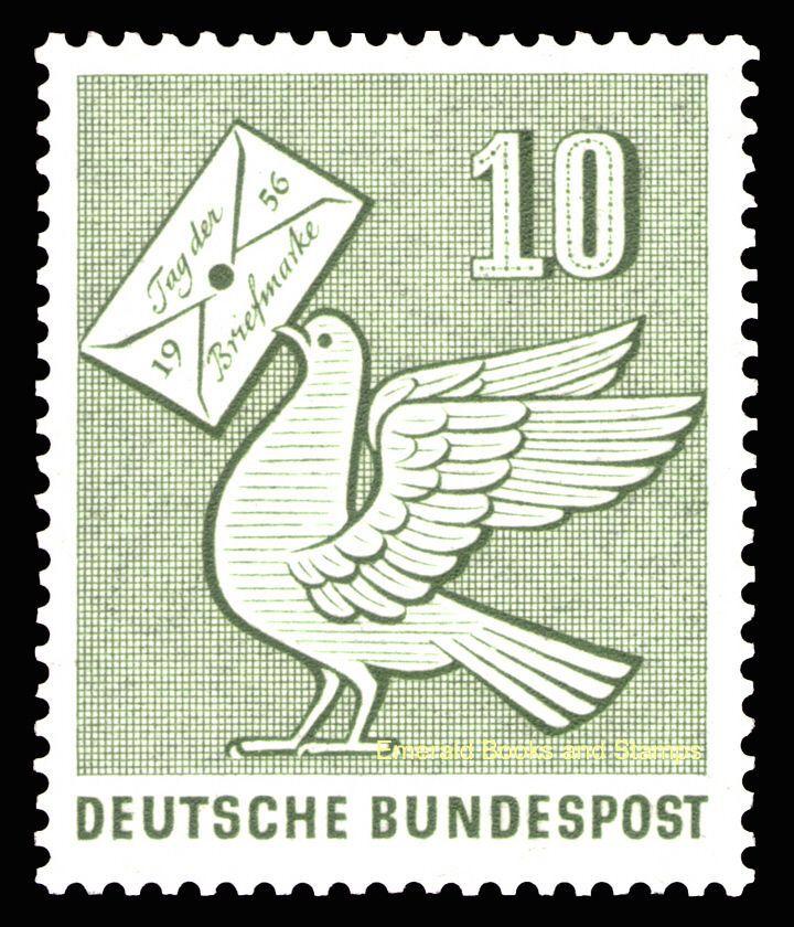 EBS Germany 1956 Stamp Day Tag der Briefmarke Michel 247 MNH** | eBay