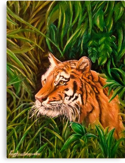 Tiger mania, Tiger obsession, Tiger addiction,  Canvas Print