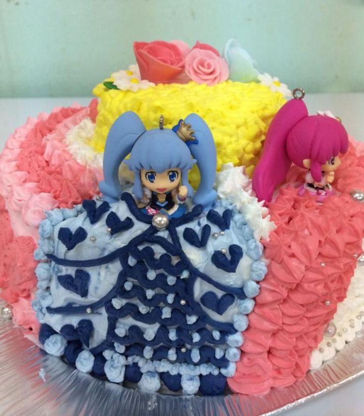 姉妹のバースデーケーキ