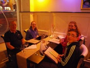 Dining at Sethu restaurant in Killorglin