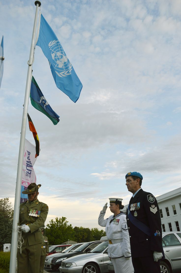"""This year the world celebrates the 70th Anniversary of the founding of the United Nations on October 24, 1945. In Australia the occasion was marked in Canberra with a flag raising ceremony jointly organised by UNIC Canberra with the United Nations Association of Australia.  With the Day's theme of """"Strong UN, better world"""" over 150 people gathered in King's Hall of the Old Parliament House to show their support for the United Nations."""
