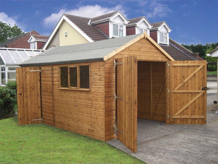 14ft x 12ft timber garage