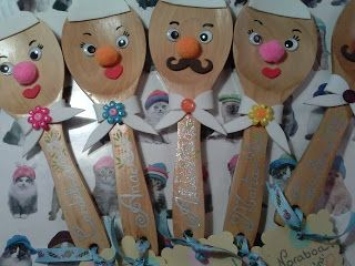Cucharas de madera decoradas