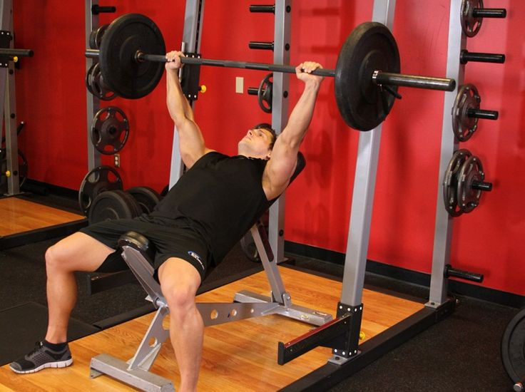 Guillotine Bench Press Part - 46: Barbell Incline Bench Press Medium Grip To Develop Strength On Pectoral  Region.The Complete Workout