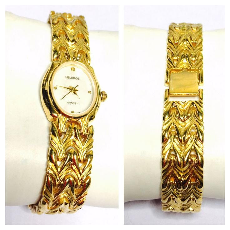 Vintage Helbros Wrist Watch, gold Tone, solid band, Clearance Sale, Item No. B200 by ESTATENOW on Etsy https://www.etsy.com/listing/527548803/vintage-helbros-wrist-watch-gold-tone